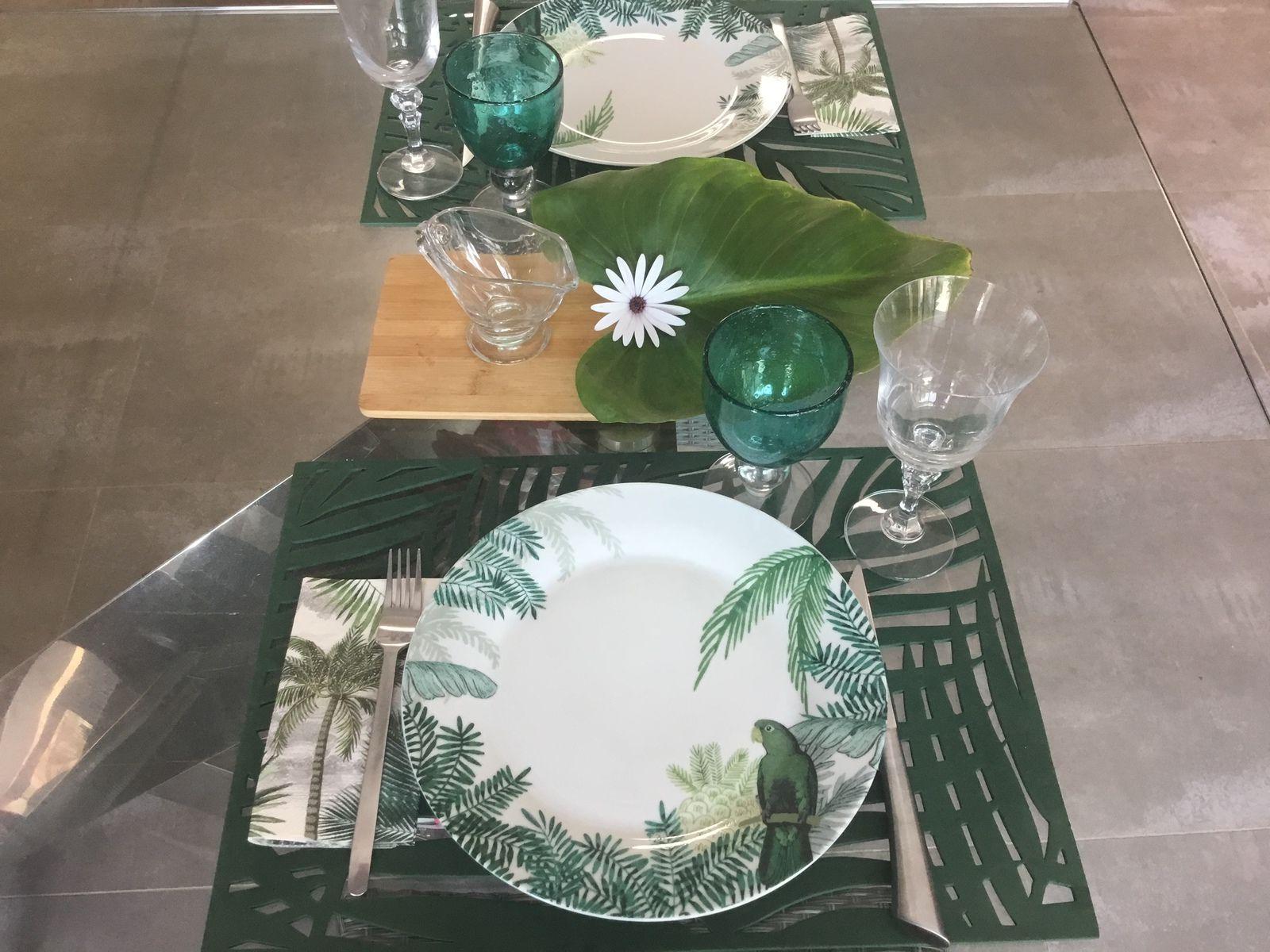La table se met au vert