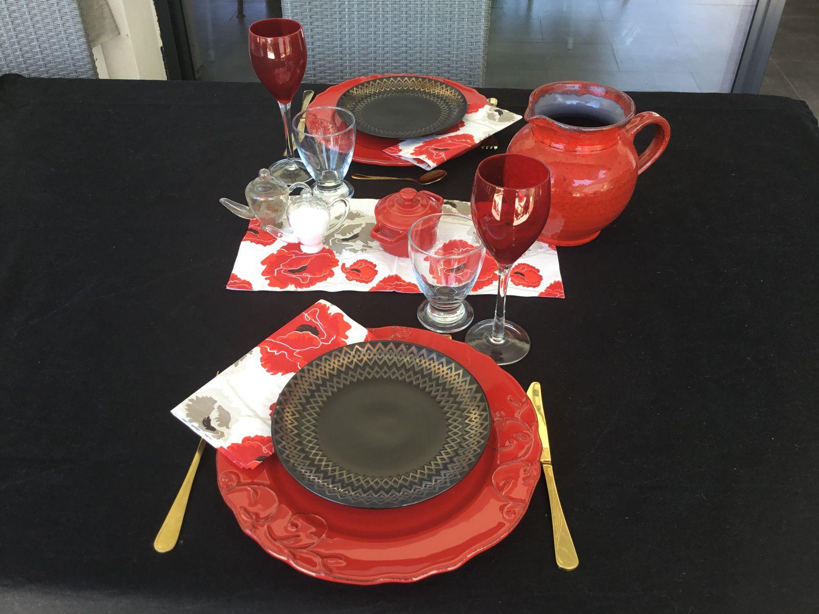 Table, le rouge et le noir