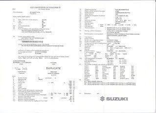 Comment obtenir un certificat de conformité Suzuki Gratuit