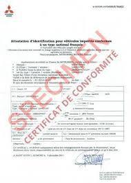 Comment obtenir un certificat de conformité Mitsubishi Gratuit