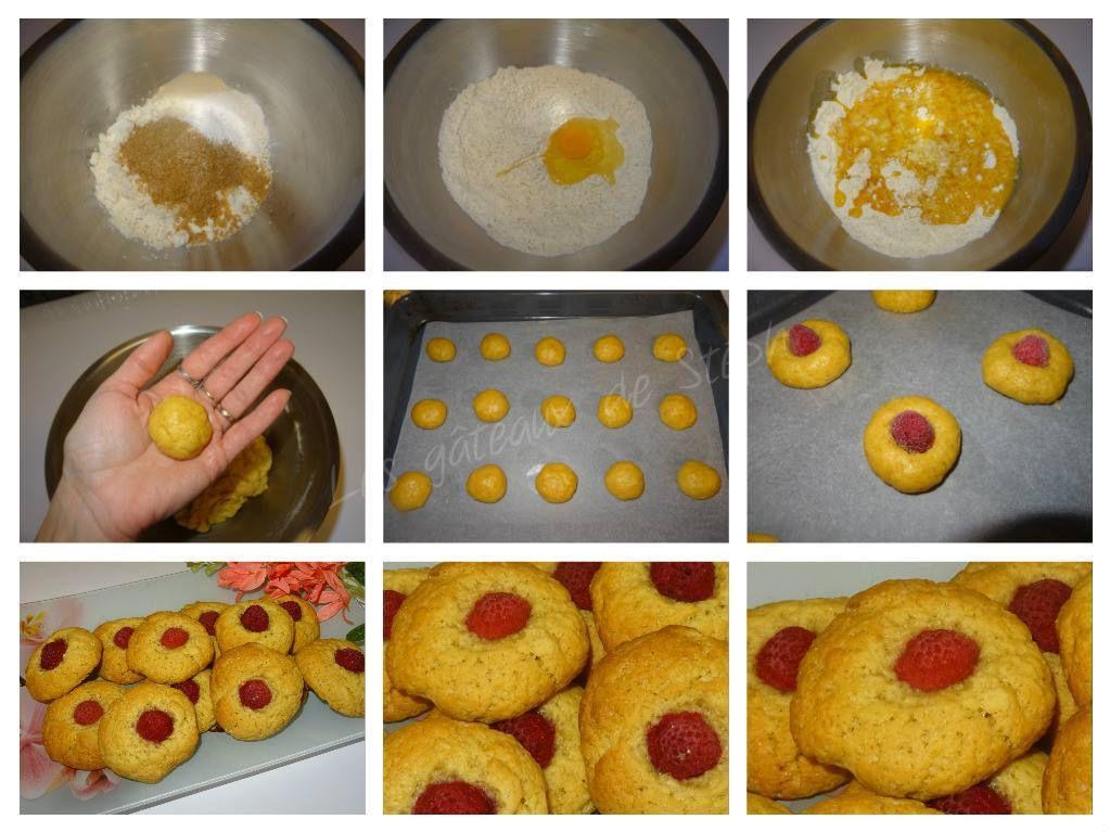Cookies à la framboise