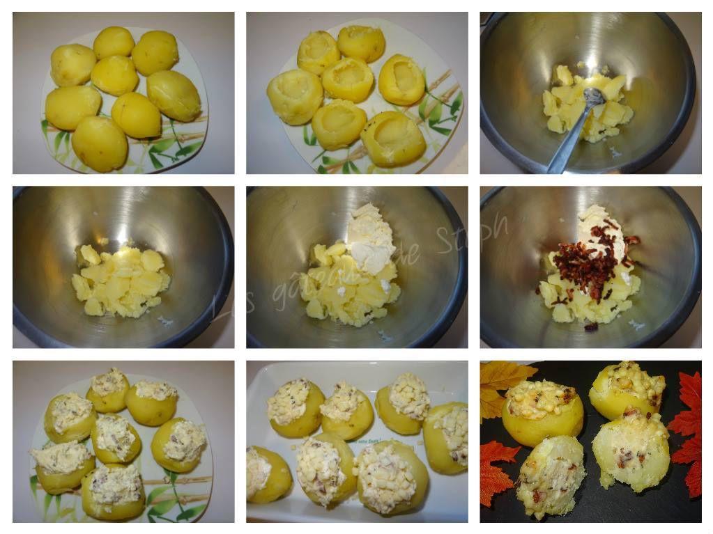 Pommes de terre farcies lardons saint morêt