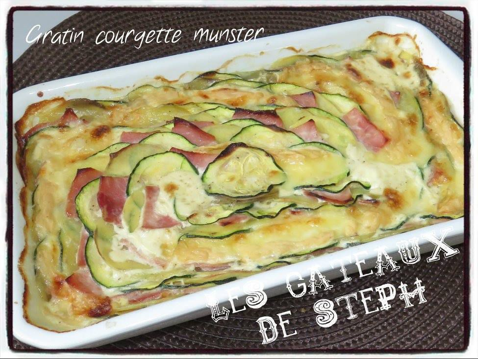 Gratin courgette munster