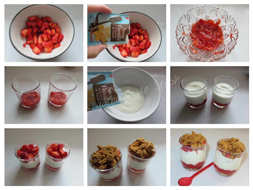 Verrines fraise fromage blanc