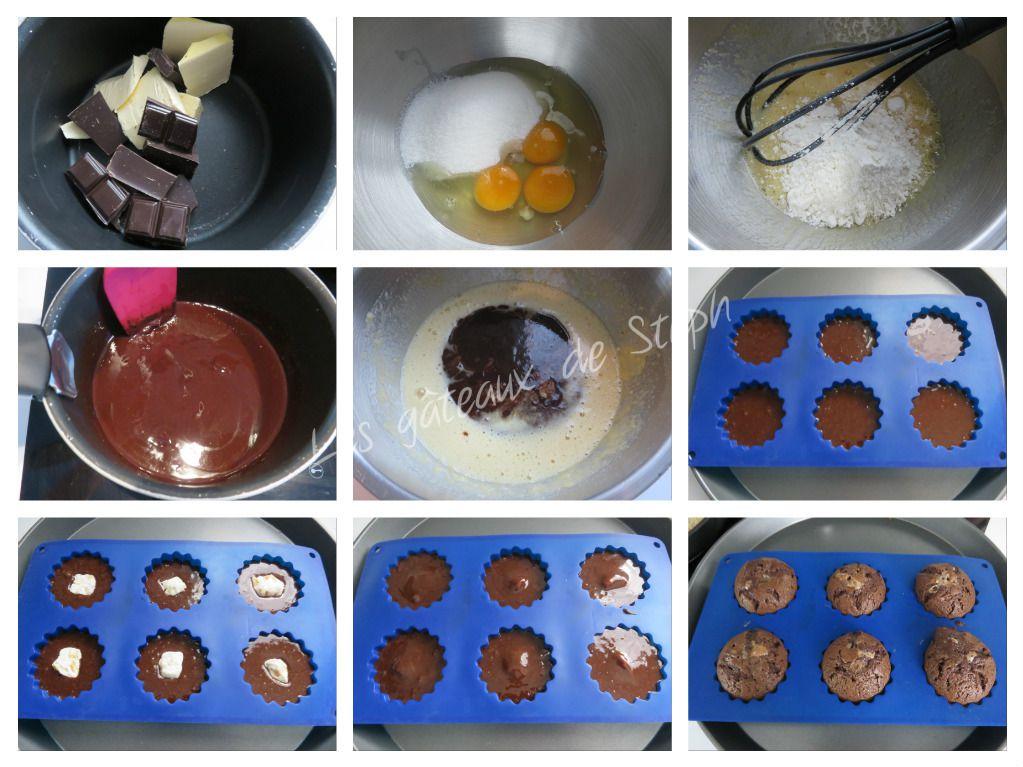 Fondant chocolat nougat