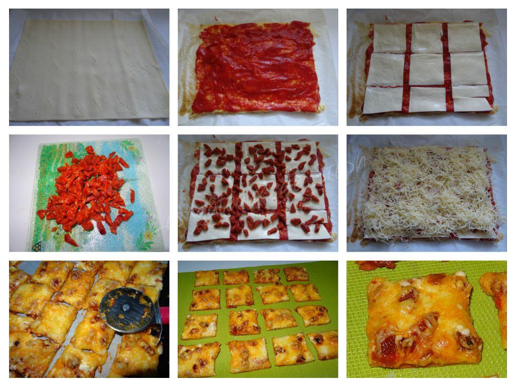#pizzas#feuilleté#bouchées#chorizo
