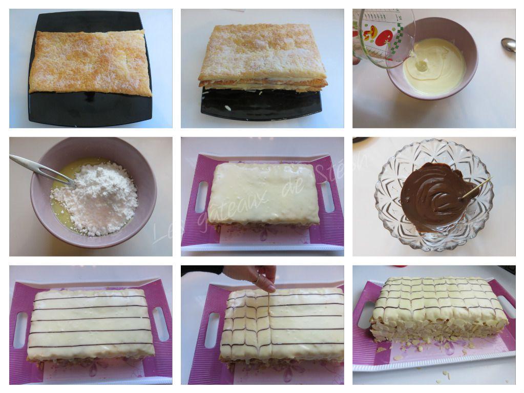 #millefeuille#feuilletée#chocolat#blanc