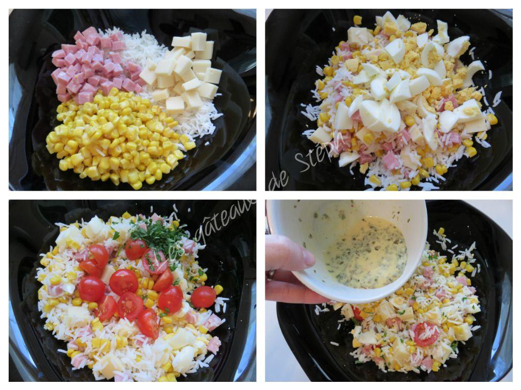 #salade#riz#thon#tomate#maïs