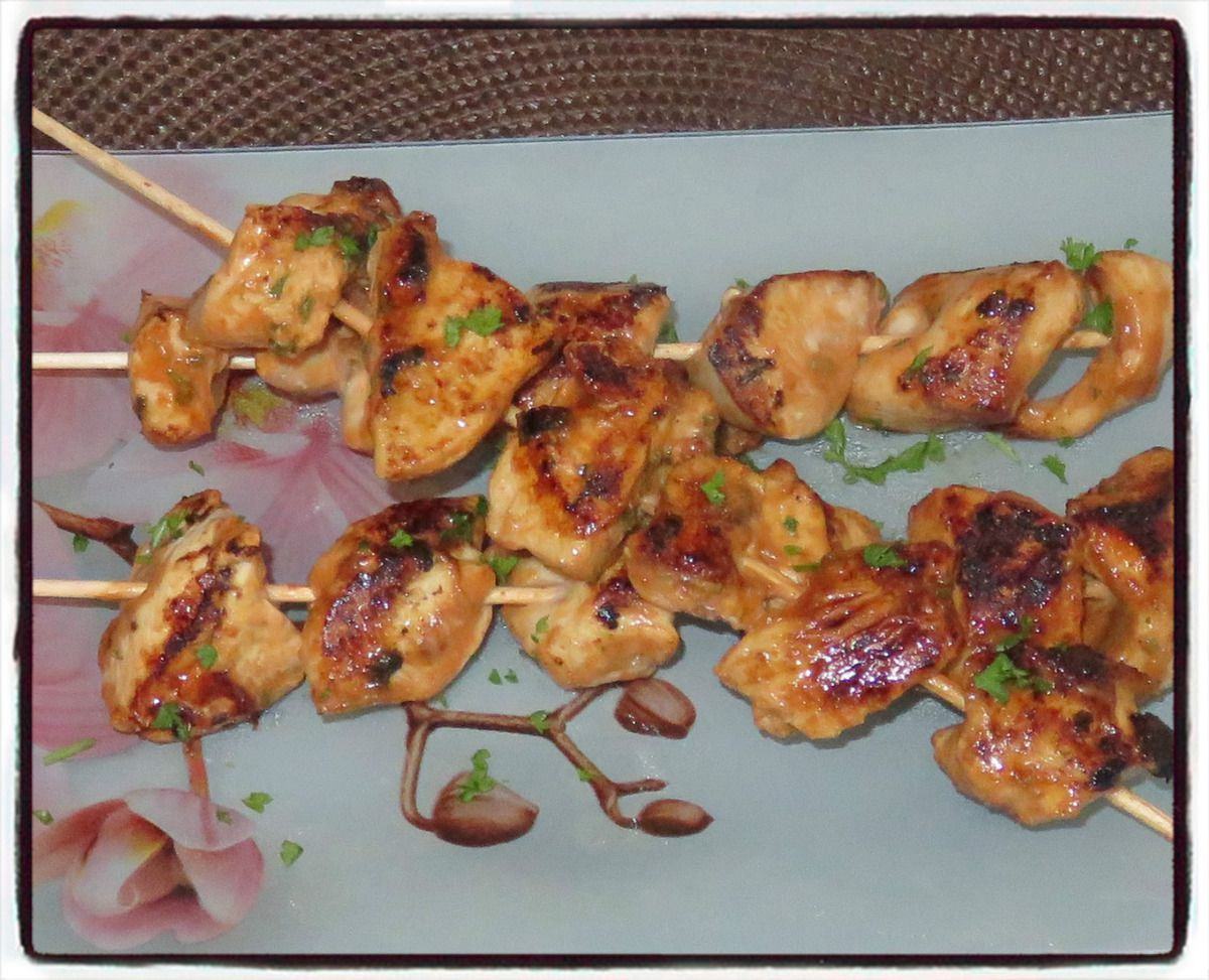 #brochettes#poulet#barbecue