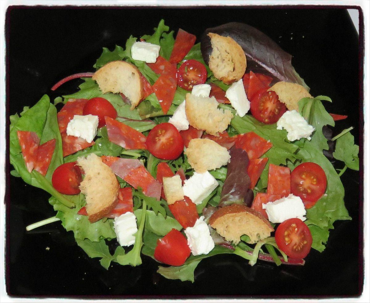 #salade#fêta#chorizo