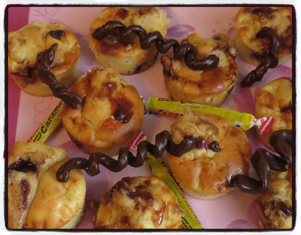 #muffins#pomme#carambar