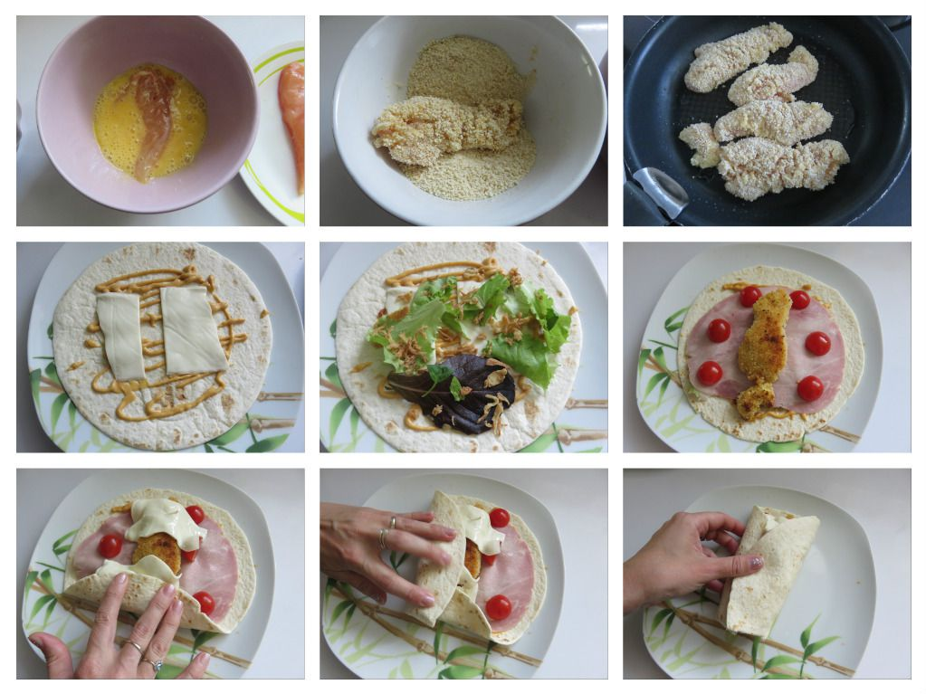 #wraps#poulet#fromage