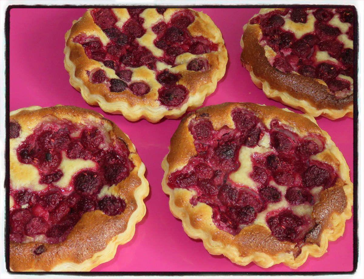 #tartelettes#framboise#amande