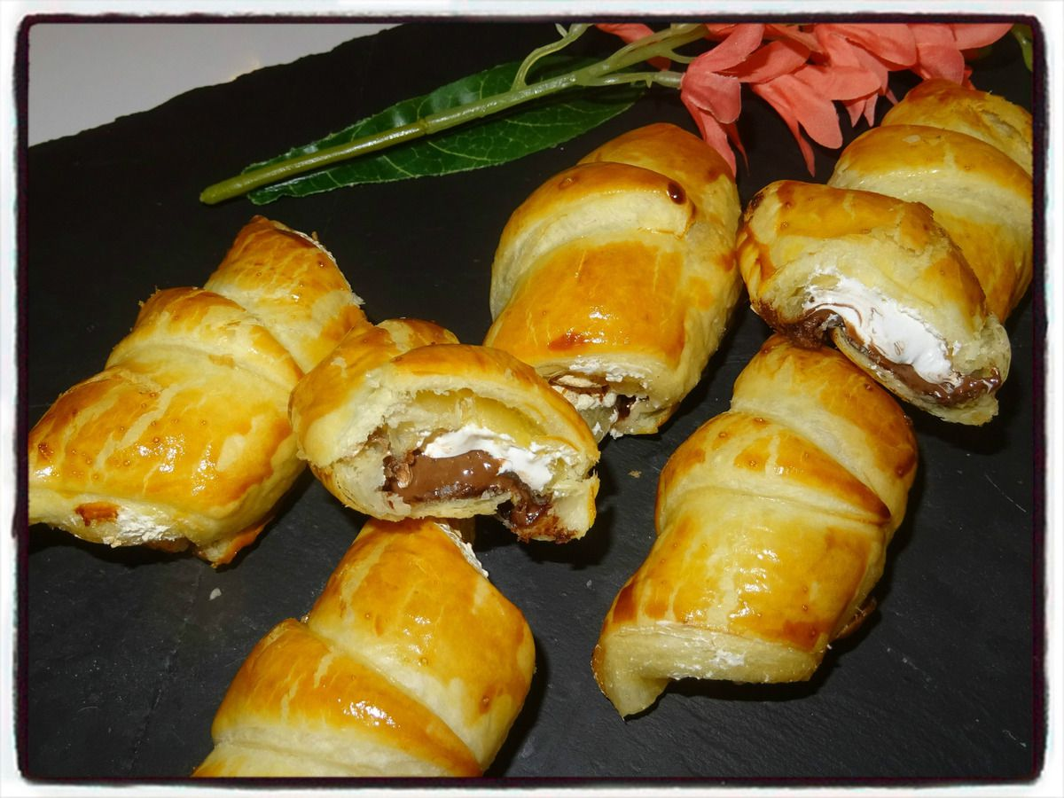 Croissants nutella chamallow