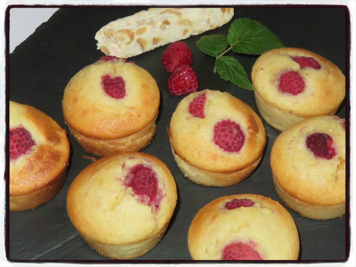 Muffins framboise nougat