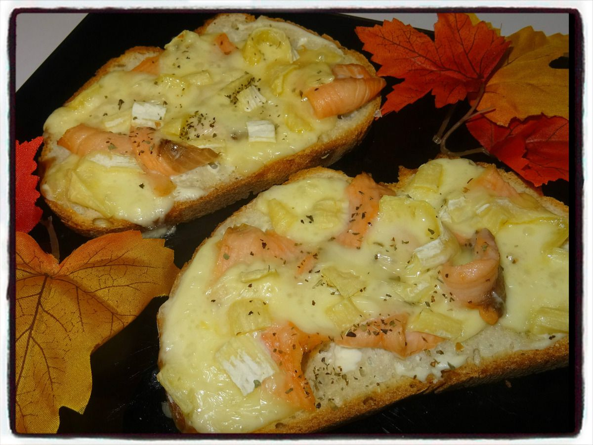 Tartines saumon camembert