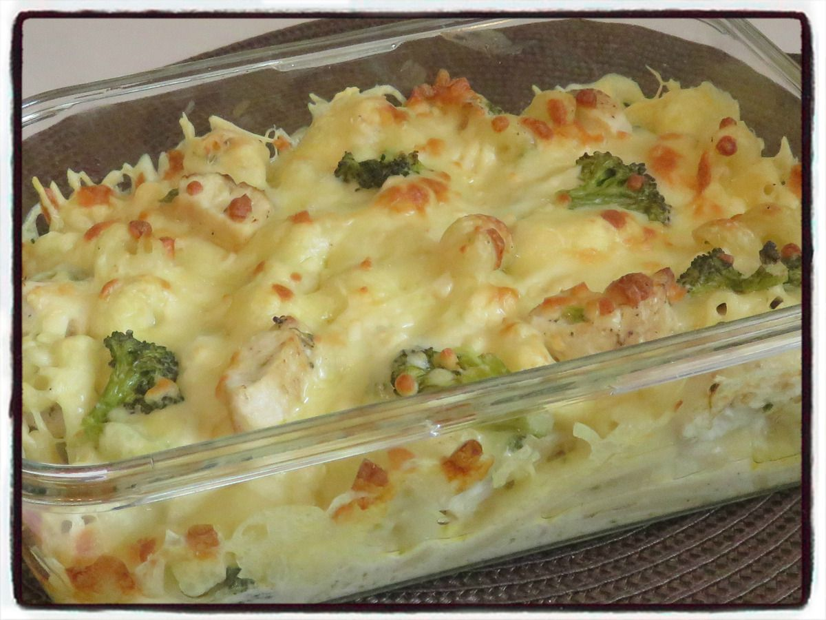 Gratin de macaronis au brocolis