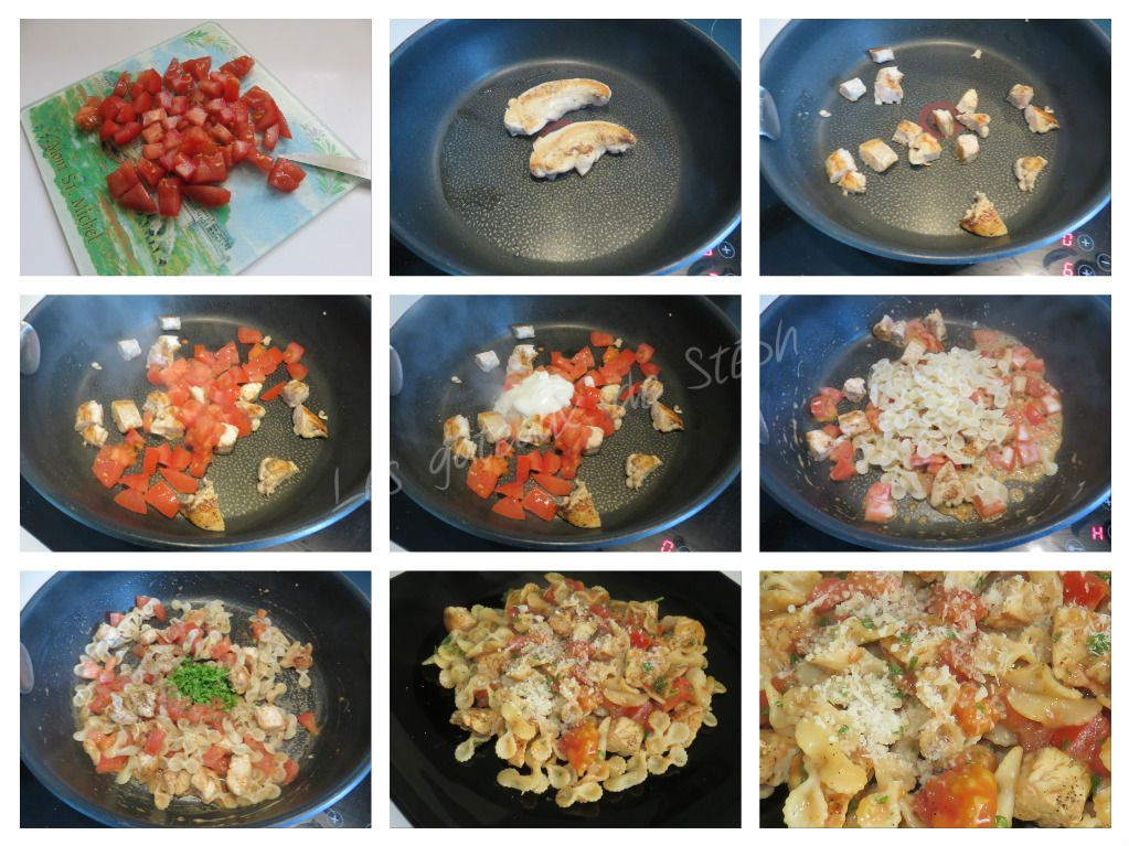 Paniers poulet tomate