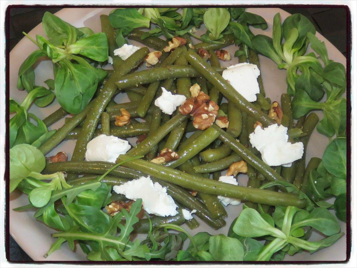 Salade d'haricots verts au chèvre