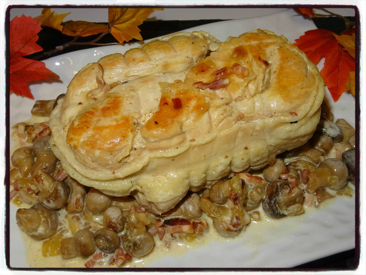 Rôti de dinde aux champignons (cookéo)