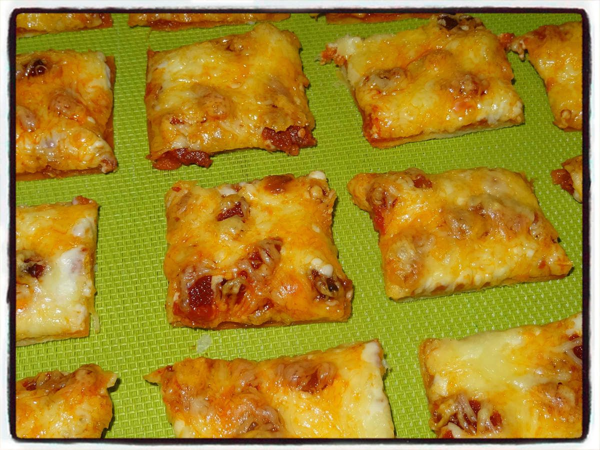 Minis pizzas au chorizo