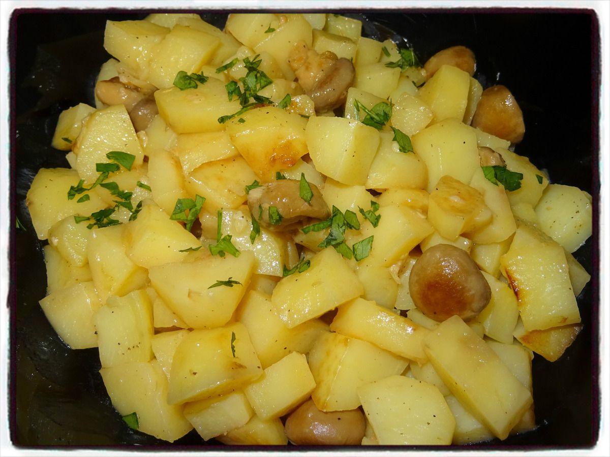 Pommes de terre sautées aux champignons (cookéo)