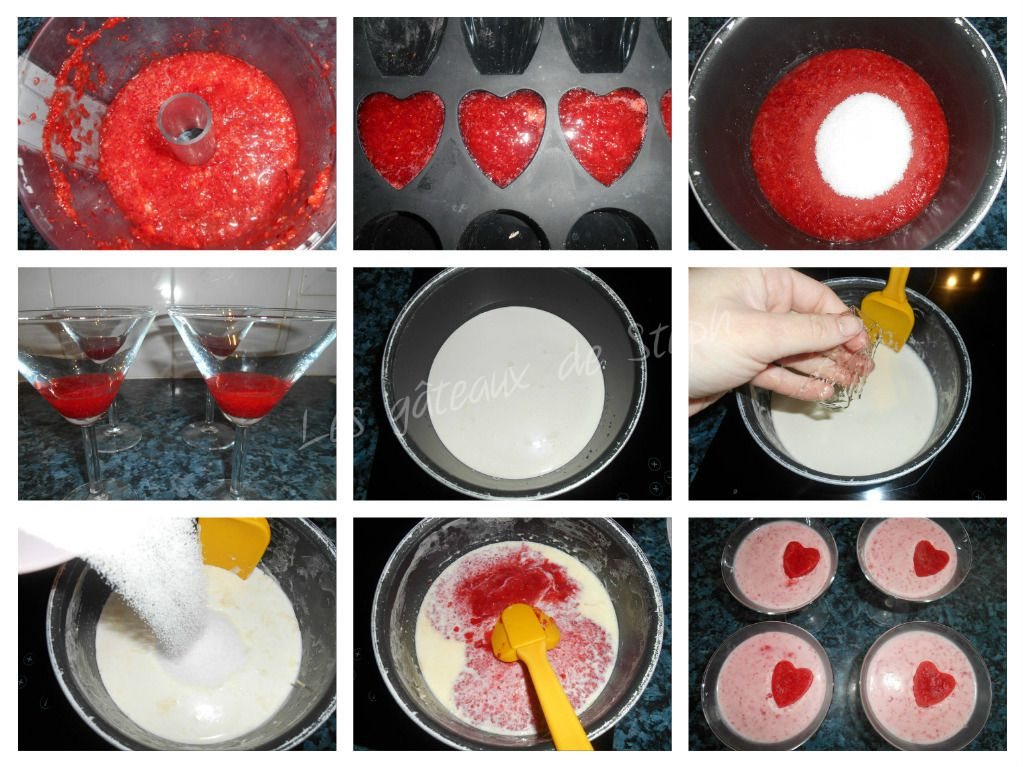 Pana cota à la fraise
