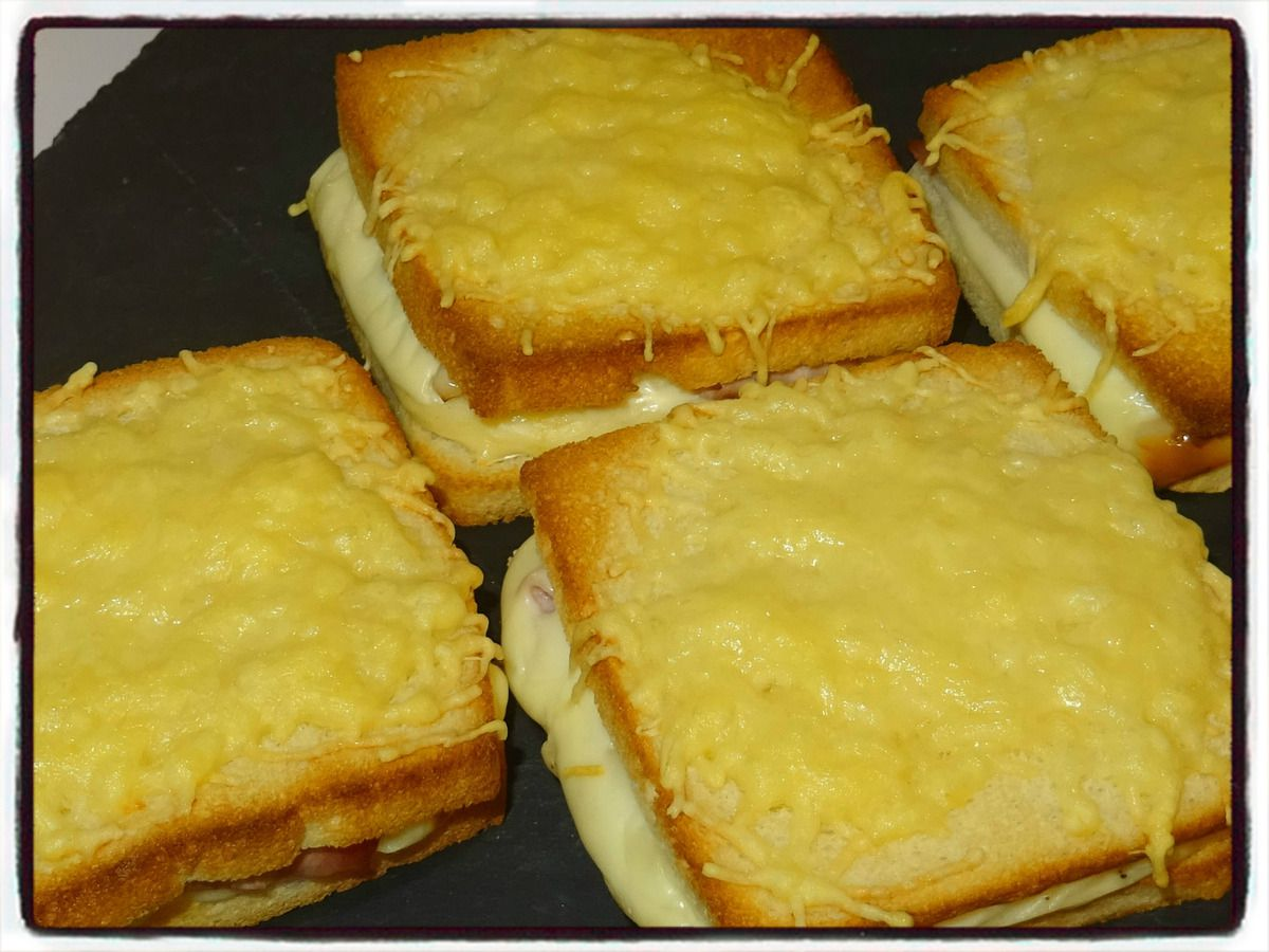 Croque béchamel au four