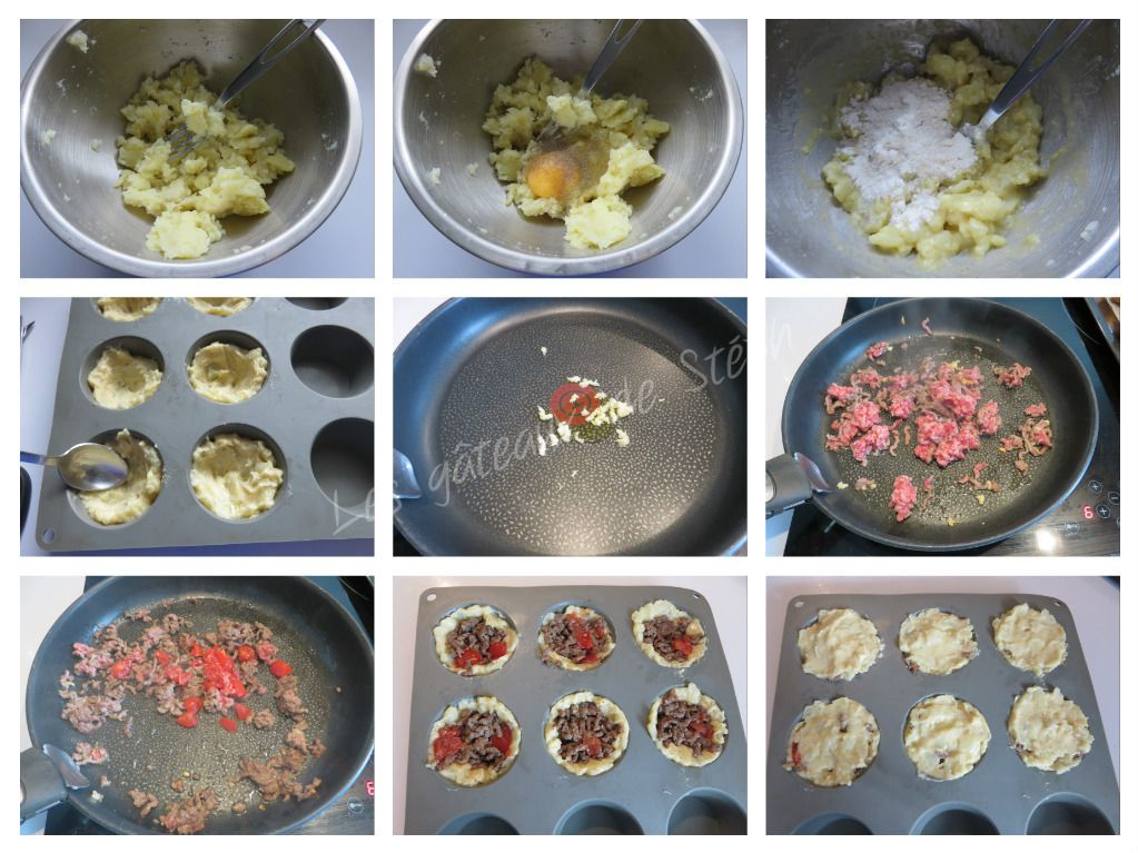 Muffins de pommes de terre au bœuf