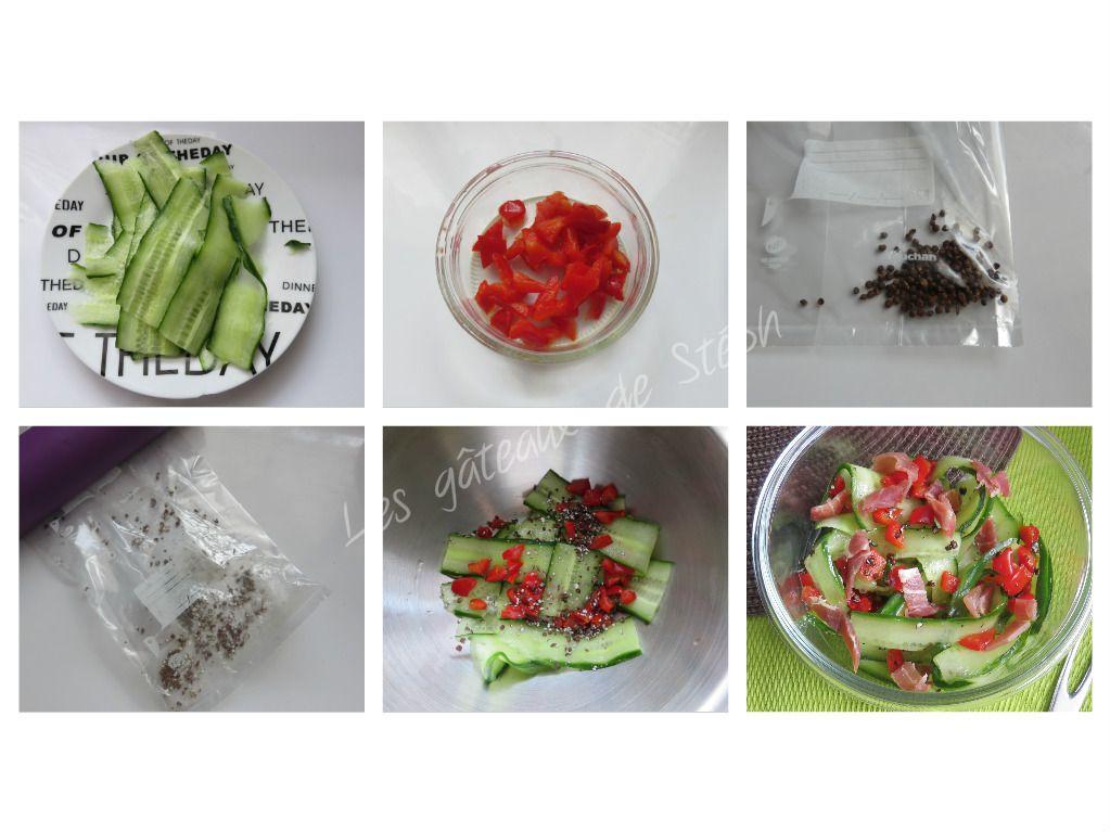 Salade de concombre aux poivrons