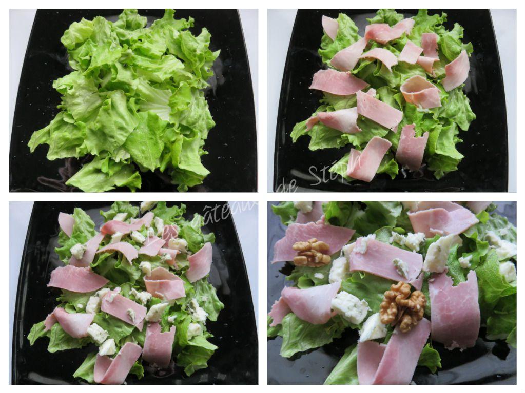 Salade au jambon et au roquefort