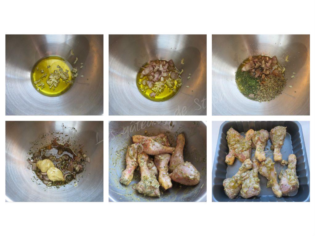 Pilons de poulet à la moutarde