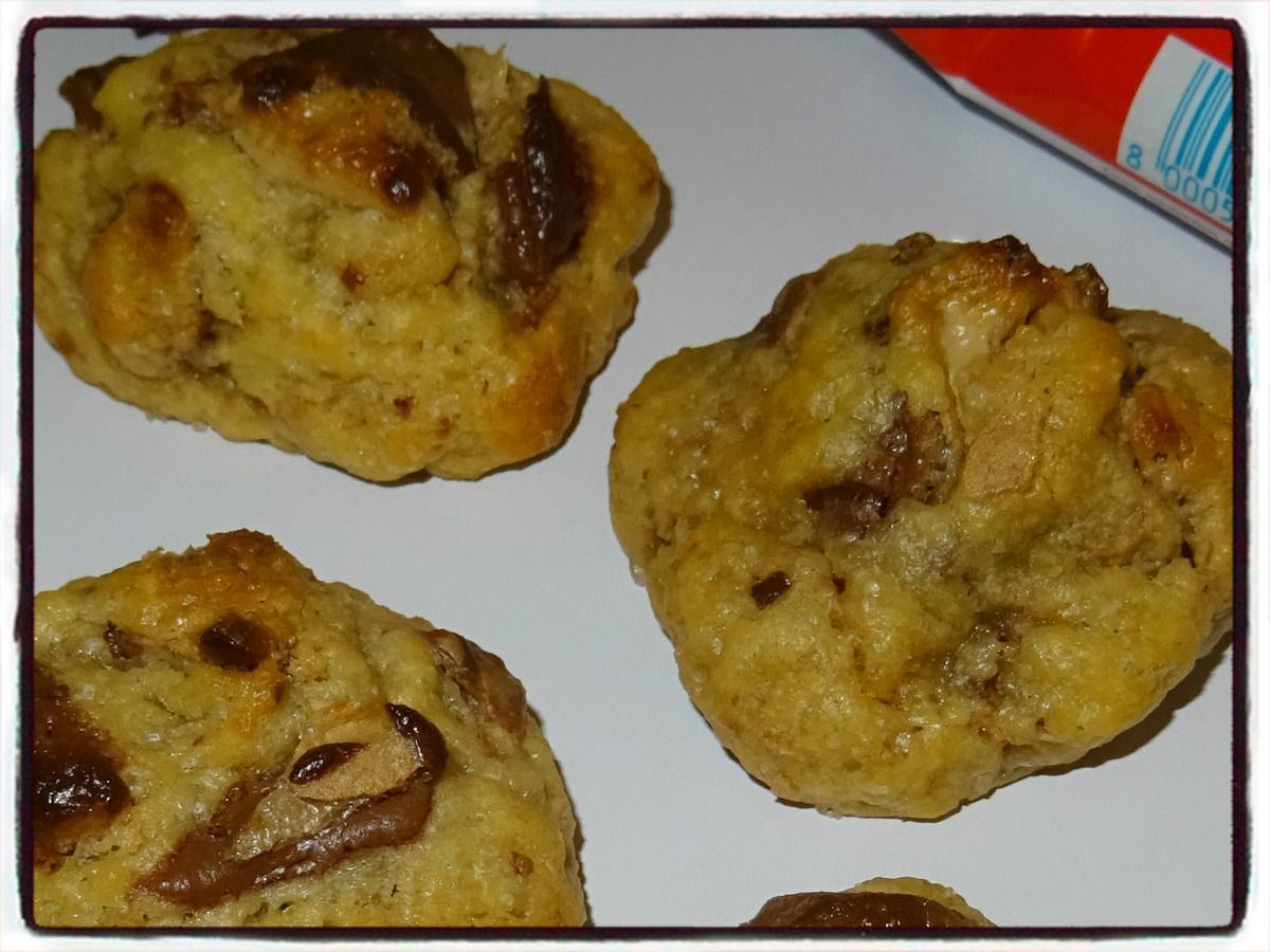 Cookies au kinder bueno (sans œuf)