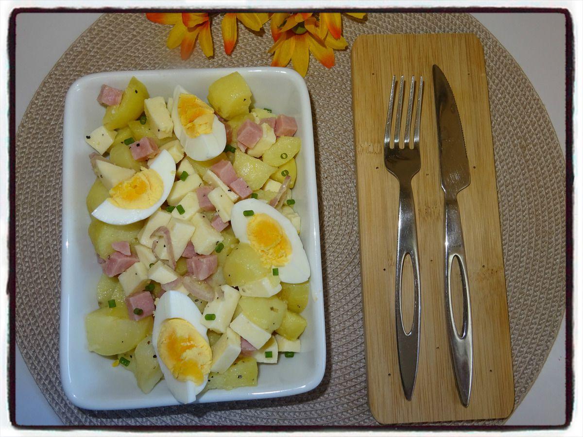 Salade de pommes de terre au babybel