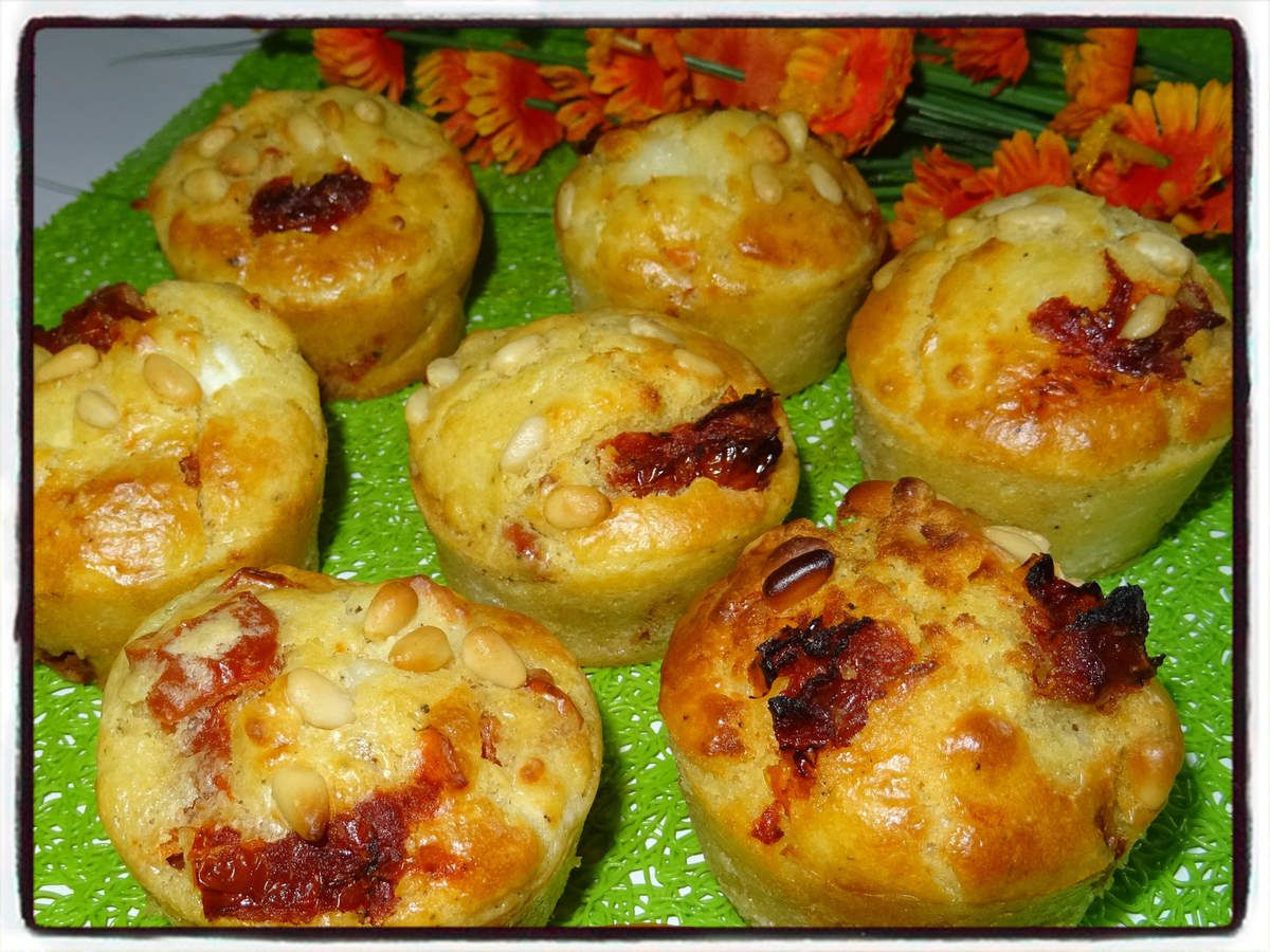 Muffins tomates séchées chèvre