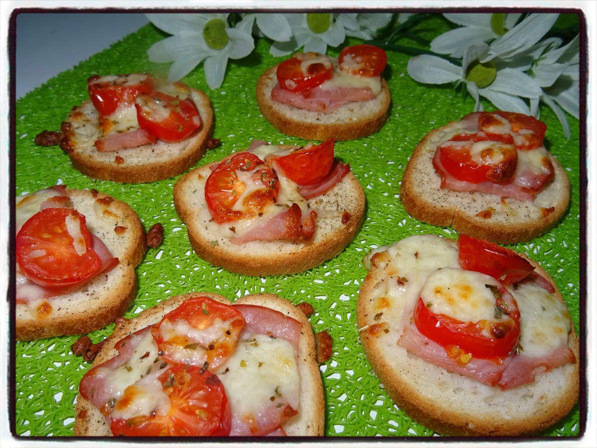 Toasts bacon tomate mozzarella