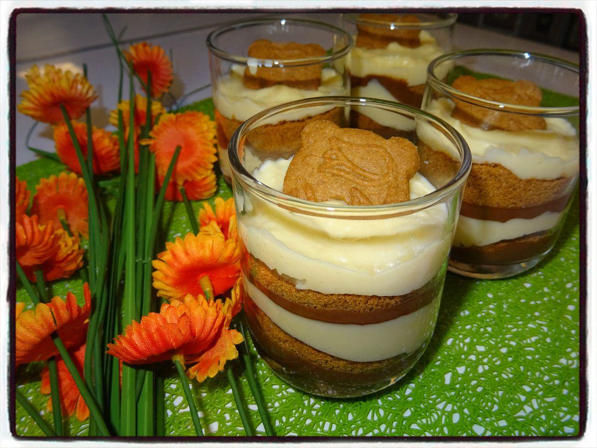 Verrines crème nutella et spéculoos
