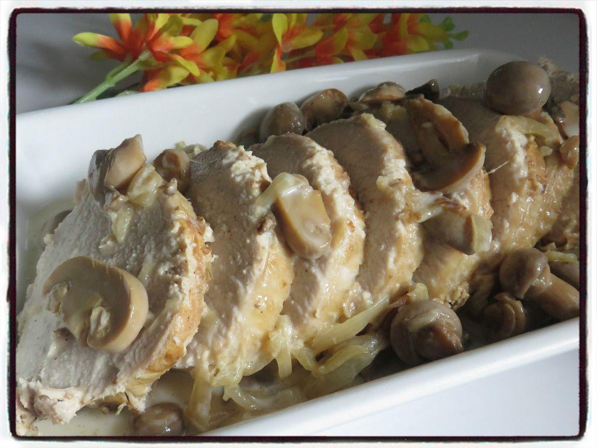 Rôti de porc aux champignons (cookéo)