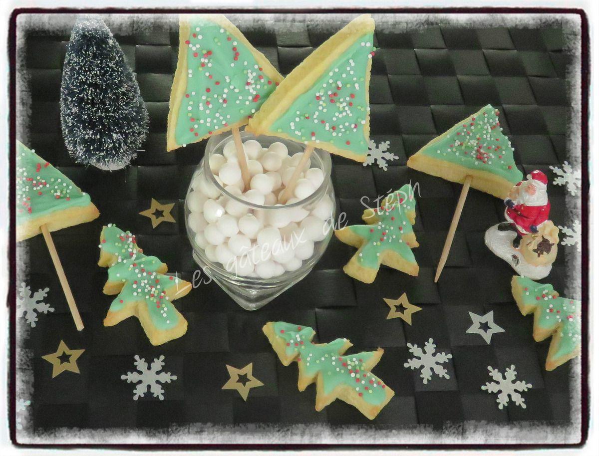 sablés de Noël au chocolat blanc
