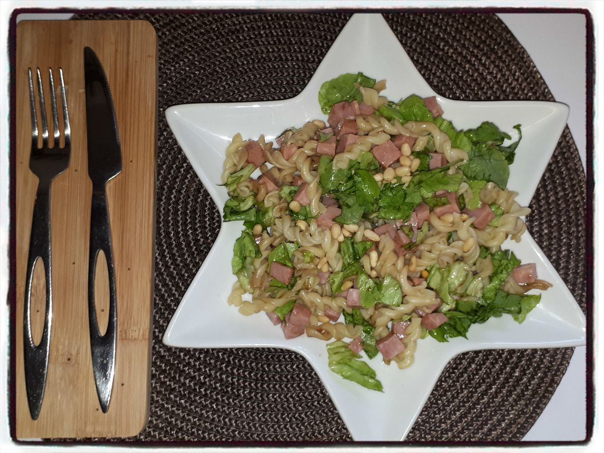 salade de pâte au jambon