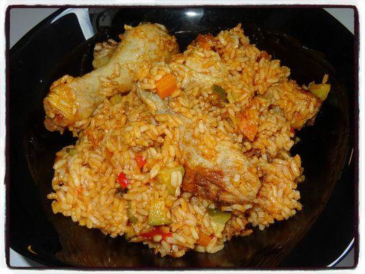 pilons poulet riz légumes courgette