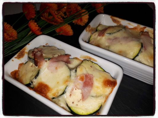 gratin courgette moutarde
