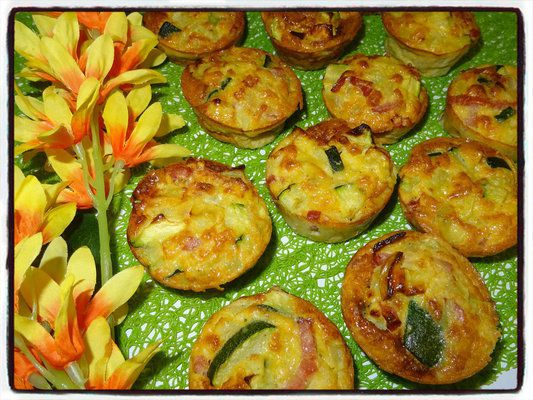 flan de courgette bacon