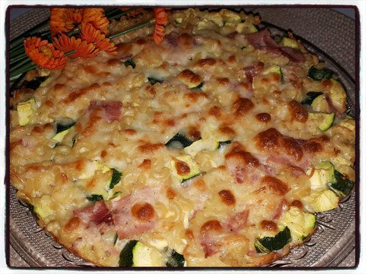 galette coquillettes courgettes