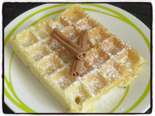 gaufre pomme cannelle