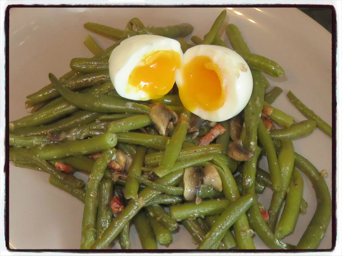 haricots verts parmesan oeuf