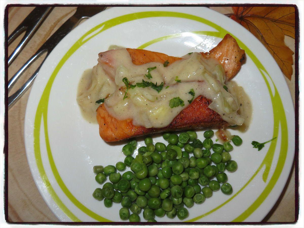pavé de saumon vin blanc