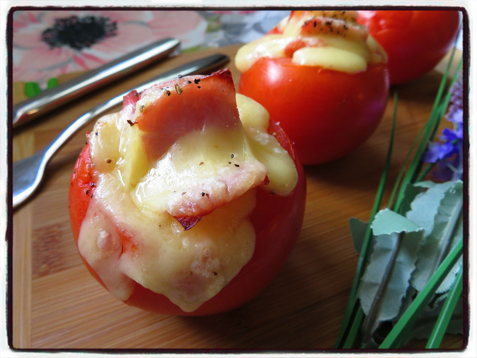 tomates gratinées au comté