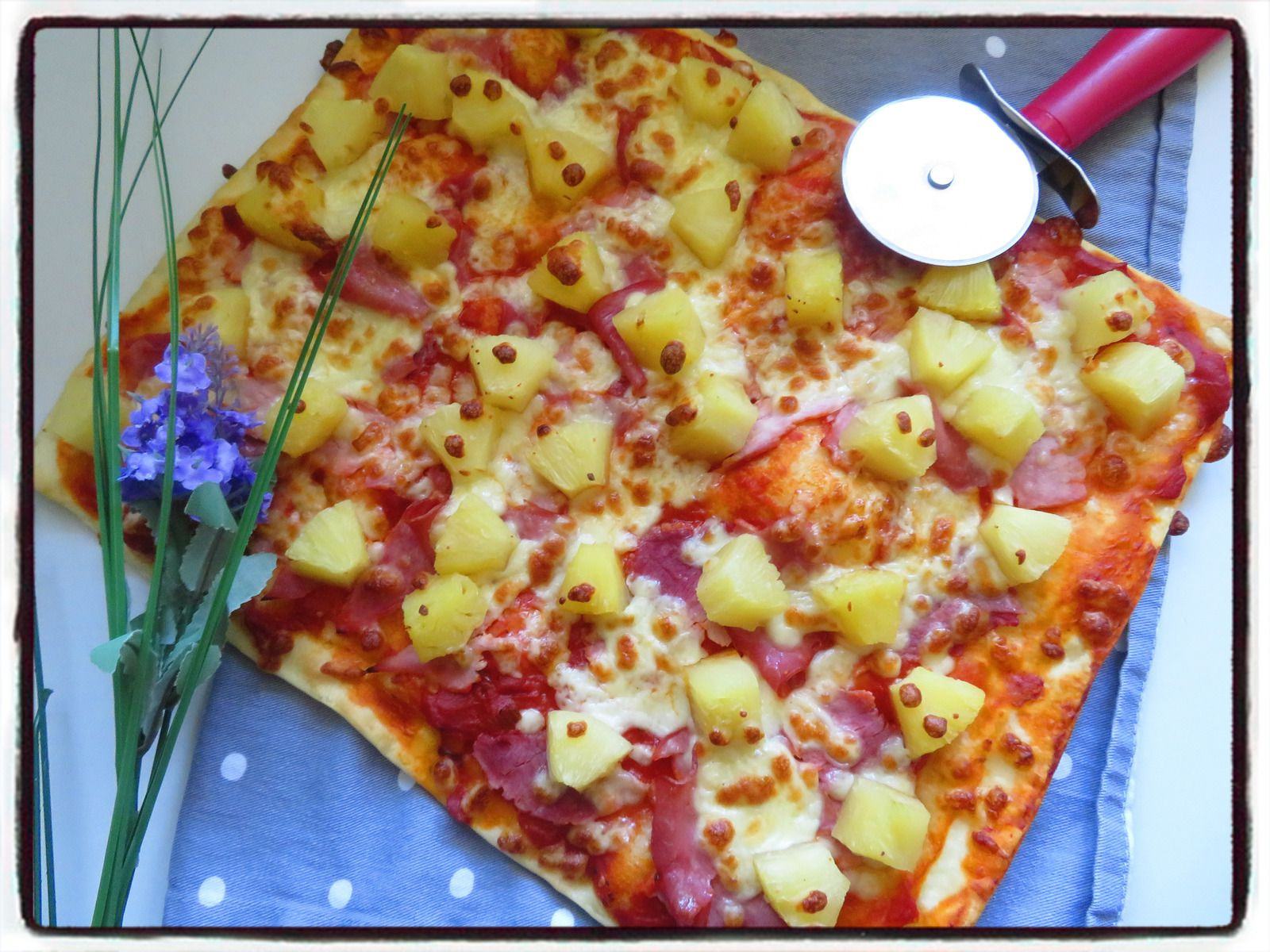 pizza hawaïenne ananas