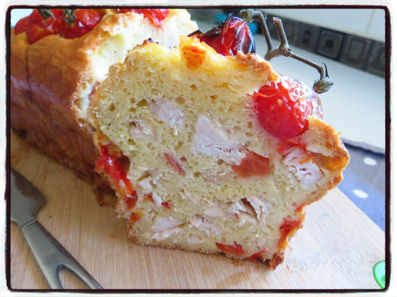 cake poulet tomate